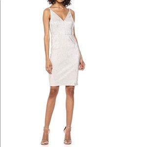NWT Calvin Klein metallic sheath dress
